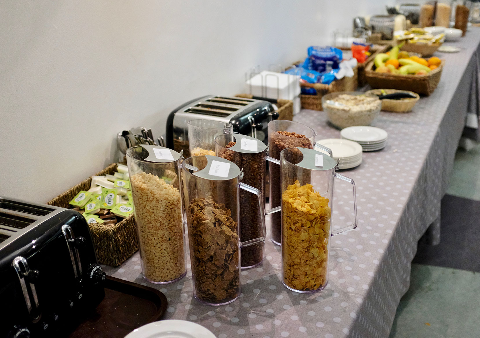 We provide all guests with a complimentary light breakfast at the Bath YMCA